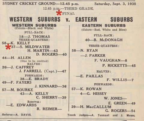 1938 final v easts red stars