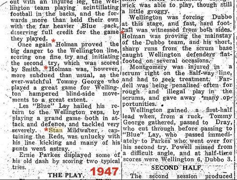 1947 wellinton v dubbo holman.
