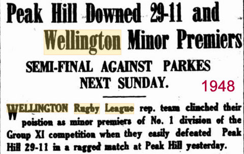 1948 wellingto win semi v parkes