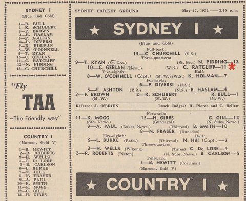 1952 city v country program
