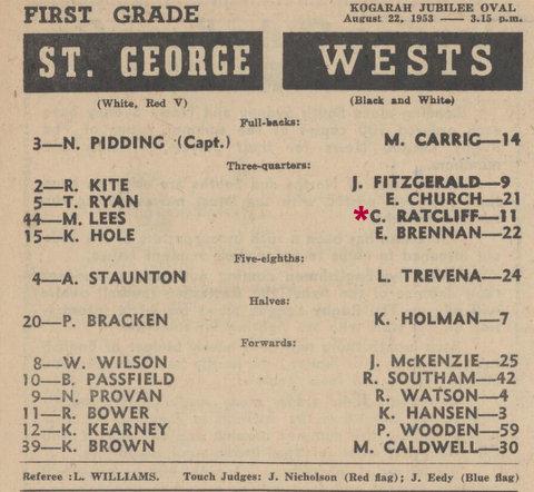 1953 last game wets v stgeorge w 9 sg 19