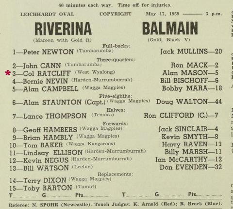 1959 Riverina v Balmain