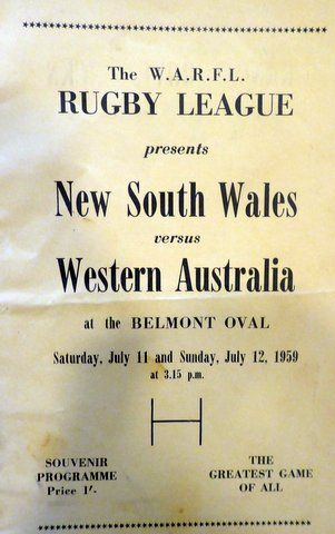 1959 nsw v west aussie program