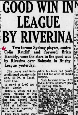 1959 riverina v balmain story