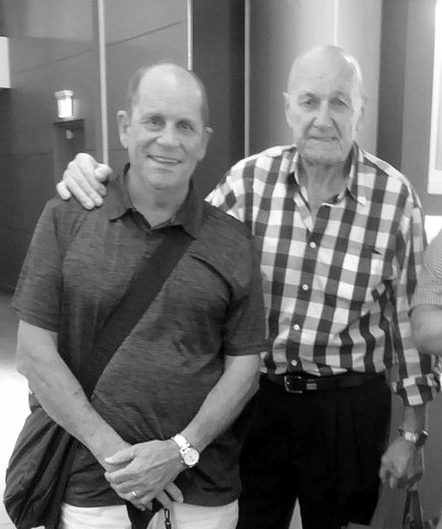2019 black and white photo of tony and col.