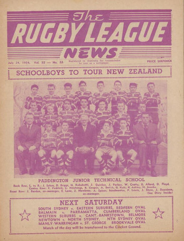 1954 photo off front cover school boys team