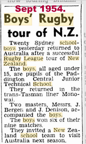 1954 tour of nz
