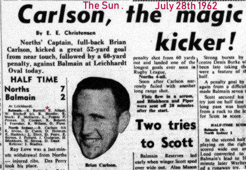 1962 The Sun game report 1