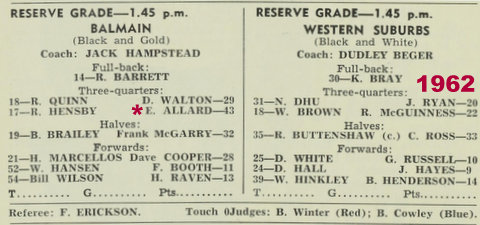 1962 program balmain v wests