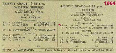 1964 program balmain v wests