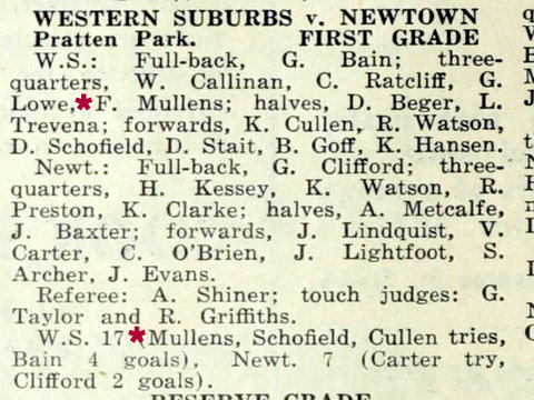 1952 fred try record wests v newtown missing game