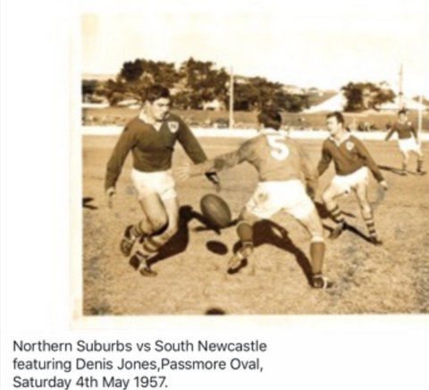 1957 phto Jack action shot Northern Subs v South Newcastle