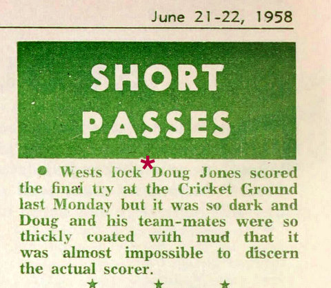 1958 june story in rln doug scoring try @ scg