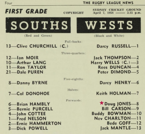 1959 1st first grade game program