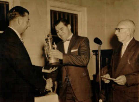 Story and photo of Doug winning the Agland Trophy