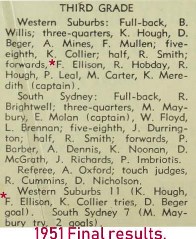 1951 final score wests v souths
