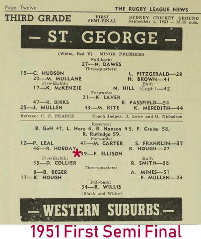 1951 semi final wests v stg 3rd grade