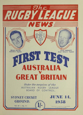 1958 first test cover