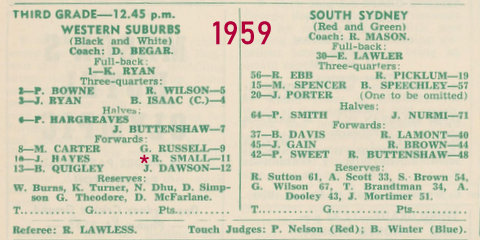 1959 wests v souths