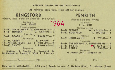 1964 r grade final penrith v kingsford