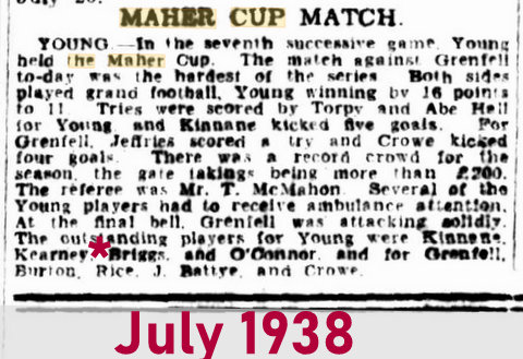 1938 july maher cup