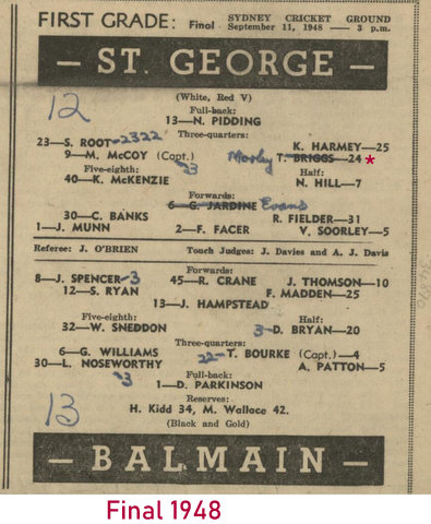 1948 final StG 12 Balmain 13 tom replaced