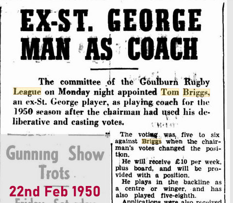 1950 Feb new coach
