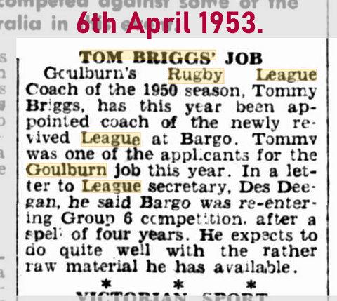 1953 6 april coach of Bargo