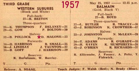 1957 1st grade game fpr Wests