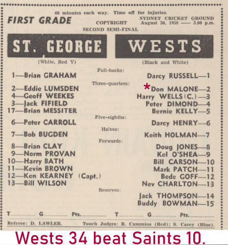 1958 semi final program rln