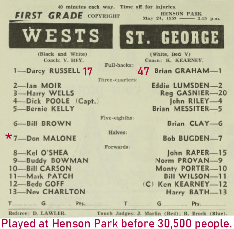 1958 wests at henson park record crowd