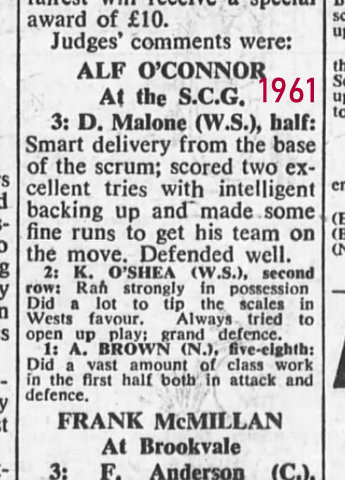 1961 don gets 3 points in SMH award.