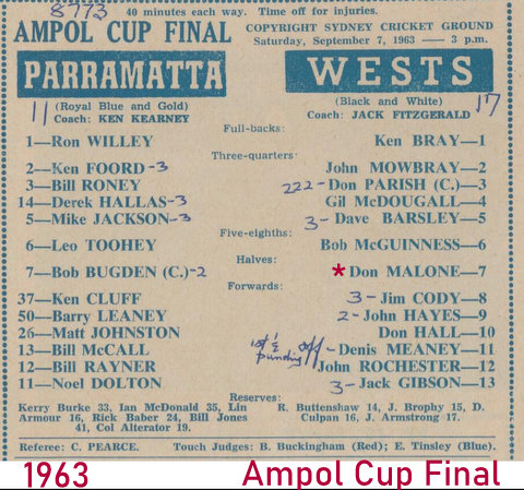 1963 Ampol Cup program