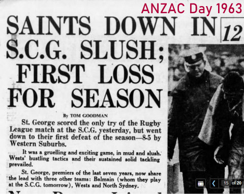1963 anzac day story about game.