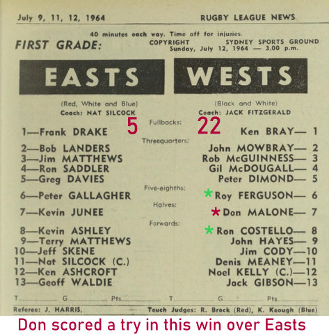 1964 program wests v easts
