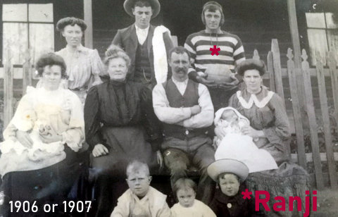 1906 family photo ranji in saints jumper