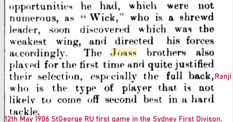 1906 saints first game in syd comp ru