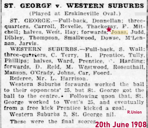 1908 teams ru saints v wests
