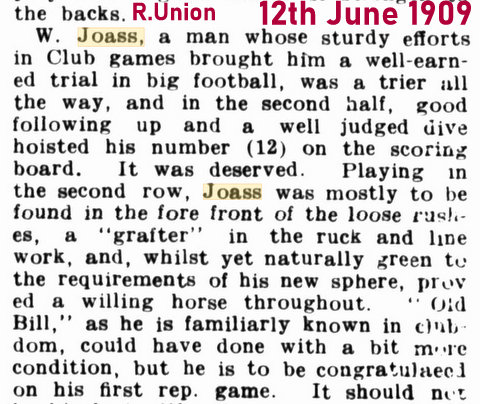 1909 runion story about ranji