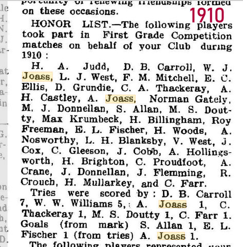 1910 honor list