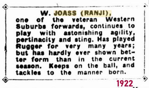 1922 story about ranji