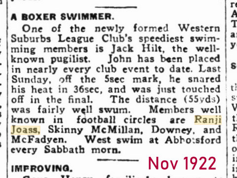 1922 swimming at abbotsford