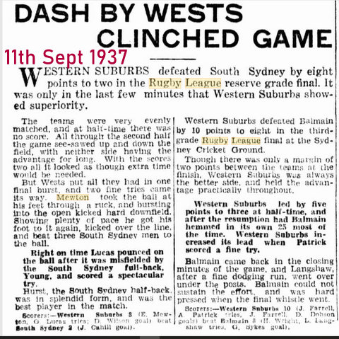 1937 story about the final wests v ss