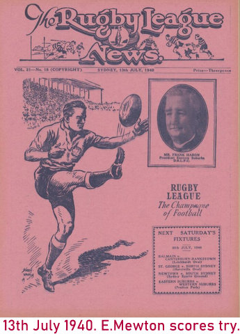1940 cover of program ted scores a try
