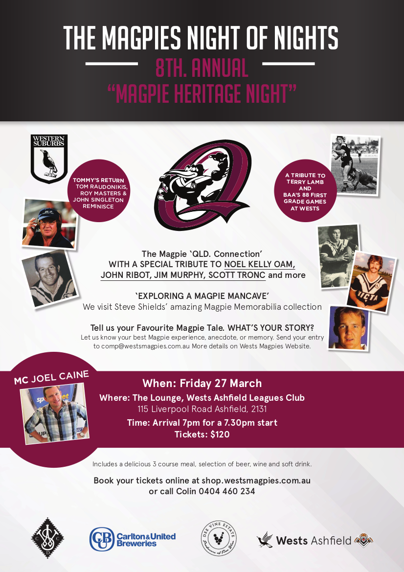2020 Magpie Heritage Night