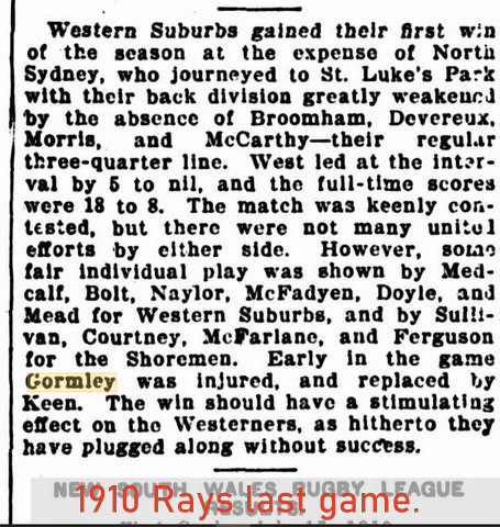 1910 rays last game.