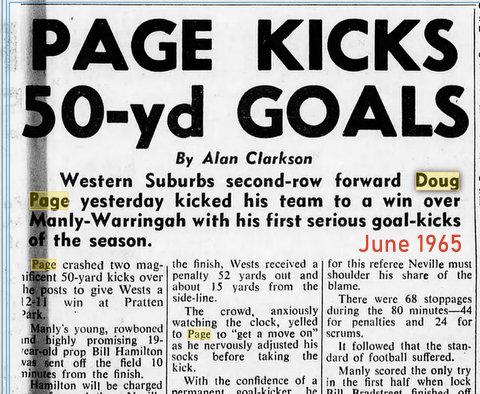 1965 doug kicks 50 yard goal