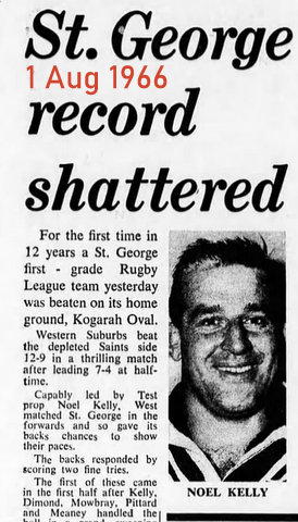 1966 wests beat saints first time in 12 years