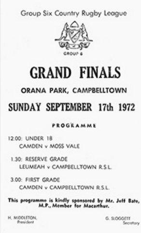 1972 GF program