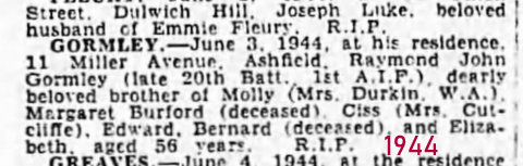death notice ray 1944